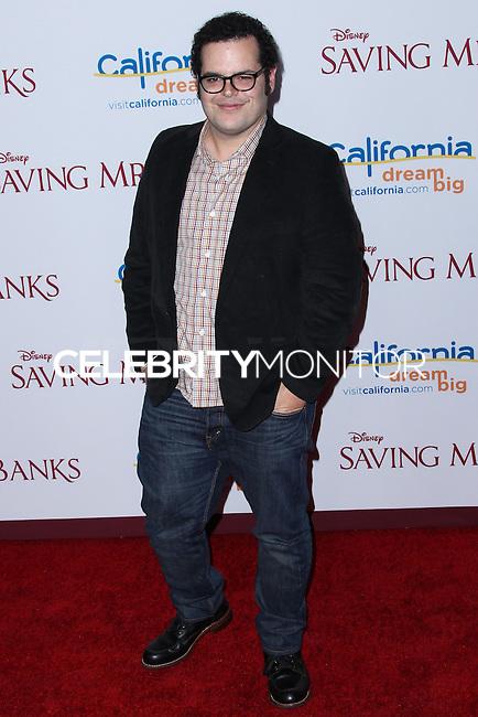 "BURBANK, CA - DECEMBER 09: Josh Gad arriving at the U.S. Premiere Of Disney's ""Saving Mr. Banks"" held at Walt Disney Studios on December 9, 2013 in Burbank, California. (Photo by Xavier Collin/Celebrity Monitor)"