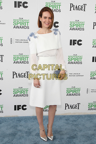 SANTA MONICA, CA - MARCH 1: Sarah Paulson attending the 2014 Film Independent Spirit Awards in Santa Monica, California on March 1st, 2014. Photo Credit: RTNUPA/MediaPunch<br /> CAP/MPI/RTNUPA<br /> &copy;RTNUPA/MediaPunch/Capital Pictures