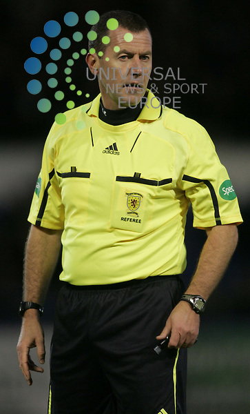 Referee Eddie Smith during the Morton v Dundee at Cappielow Park,Greenock..Picture: Universal News And Sport (Scotland).  7 December  2010..