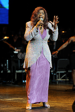 MIAMI BEACH, FL - APRIL 14: Gloria Gaynor performs at the 1st annual Florida 'Sounding Off For A Cure' benefit concert presented by the Voices Against Brain Cancer Foundation Fillmore Miami Beach on April 14, 2011 in Miami Beach, Florida.© Mpi04 / MediaPunch Inc.