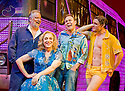 Priscilla Queen of the Desert The Musical.Written by Stephan Elliott and Allan Scott,directed by Simon Phillips.With Clive Carter as Bob[overalls],Tony Seldon as Bernadette[blue dress],Jason Donovan as Tick[shirt],Oliver Thornton as Adam[yellow].Opens at The PalaceTheatre on 23/3/09.  credit Geraint Lewis
