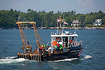 US Coast Guard buoy tender in Boothbay Harbor, Lincoln County, Maine, USA