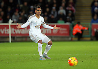 Kyle Naughton of Swansea vents his frustration during the Barclays Premier League match between Swansea City and Bournemouth at the Liberty Stadium, Swansea on November 21 2015
