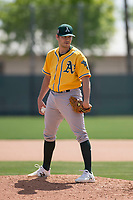 Oakland Athletics pitcher Nick Highberger during a live batting practice session during Minor League Spring Training camp at Lew Wolff Training Complex on March 26, 2018 in Mesa, Arizona. (Zachary Lucy/Four Seam Images)