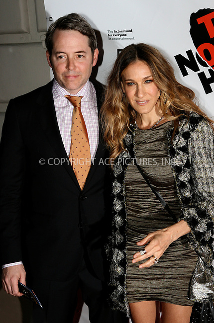 WWW.ACEPIXS.COM . . . . .  ....April 27 2011, New York City....Actors Matthew Broderick and Sarah Jessica Parker arriving at the Broadway opening night of 'The Normal Heart' at The Golden Theatre on April 27, 2011 in New York City. ....Please byline: NANCY RIVERA- ACEPIXS.COM.... *** ***..Ace Pictures, Inc:  ..Tel: 646 769 0430..e-mail: info@acepixs.com..web: http://www.acepixs.com