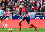 Saul Niguez Esclapez of Atletico de Madrid in action during the La Liga 2017-18 match between Atletico de Madrid and Girona FC at Wanda Metropolitano on 20 January 2018 in Madrid, Spain. Photo by Diego Gonzalez / Power Sport Images