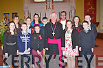Kilgobnnet NS pupils who were Confirmed by Bishop Ray Browne in St Mary's church, Beaufort on Monday front row l-r: Orla Murphy, Dean Callan, Jack O'Leary, Kerry Richards, Jack O'Connor. Back row: Bernie Costello, Mark Doona, Marie Quinlan, Shane Doona, Aoife Murphy and Killian Kelleher