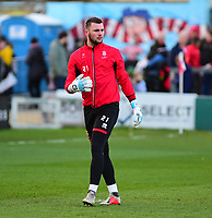 Lincoln City's Grant Smith during the pre-match warm-up<br /> <br /> Photographer Andrew Vaughan/CameraSport<br /> <br /> The EFL Sky Bet League Two - Lincoln City v Port Vale - Tuesday 1st January 2019 - Sincil Bank - Lincoln<br /> <br /> World Copyright &copy; 2019 CameraSport. All rights reserved. 43 Linden Ave. Countesthorpe. Leicester. England. LE8 5PG - Tel: +44 (0) 116 277 4147 - admin@camerasport.com - www.camerasport.com