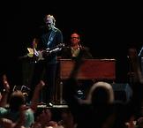 Stephen Stills with Todd Caldwell on Hammond B-3.  Crosby, Stills & Nash at Max-Schmeling-Halle, Berlin, Germany