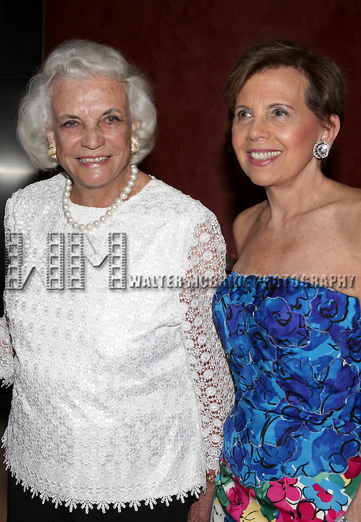 Sandra Day O'Connor & Adrienne Arsht.attending the Signature Theatre Stephen Sondheim Award Gala reception honoring Patti Lupone at the Embassy of Italy in Washington D.C. on 4/16/2012.