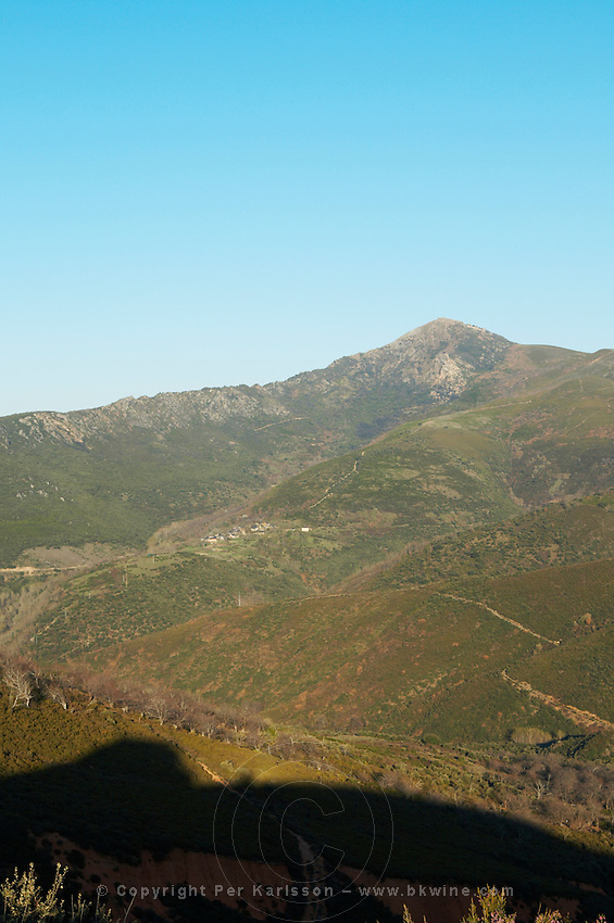 View over Montes Aquilianos from Las Medulas spain castile and leon