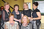 Gaelscoil Aogain Castleisland staff who held their postponed Christmas party in Lord Kenmare's Killarney on Saturday night front l-r: Mary Fitzgerald, Noreen King. Back row: Mary Breen, Marie O'Leary, Mary Sheehy and Maria Nolan