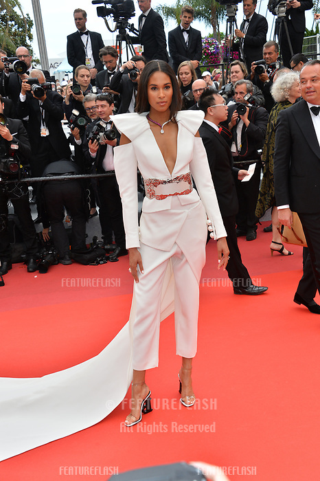 "CANNES, FRANCE. May 20, 2019: Cindy Bruna  at the gala premiere for ""La Belle Epoque"" at the Festival de Cannes.<br /> Picture: Paul Smith / Featureflash"