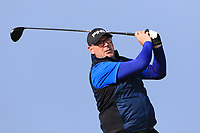 Gary Cullen on the 1st tee during Round 4 of The West of Ireland Open Championship in Co. Sligo Golf Club, Rosses Point, Sligo on Sunday 7th April 2019.<br /> Picture:  Thos Caffrey / www.golffile.ie