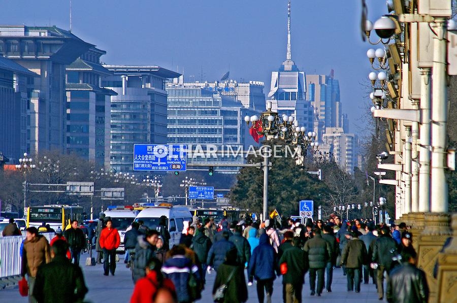 População na rua na cidade de Pequim. China. 2007. Foto de Flávio Bacellar.