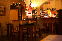 The restaurant Bazou Bistro Broc in Avignon. Avignon, Vaucluse, Provence, Alpes Cote d Azur, France, Europe