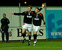 27/11/2004  Copyright Pic : James Stewart.File Name : jspa08_falkirk_v_ross_county.DANIEL MCBREEN CELEBRATES WITH DARRYL DUFFY AFTER HE SCORES FALKIRK'S EQUALISER.....Payments to :.James Stewart Photo Agency 19 Carronlea Drive, Falkirk. FK2 8DN      Vat Reg No. 607 6932 25.Office     : +44 (0)1324 570906     .Mobile   : +44 (0)7721 416997.Fax         : +44 (0)1324 570906.E-mail  :  jim@jspa.co.uk.If you require further information then contact Jim Stewart on any of the numbers above.........