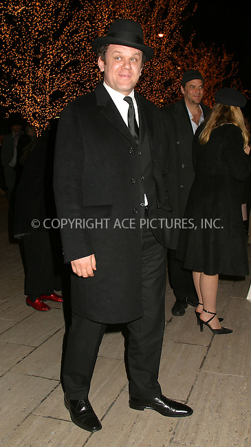 "John C. Reilly arrives at the premiere after party for ""Chicago."" New York, December 18, 2002. Please byline: Alecsey Boldeskul/NY Photo Press.   ..*PAY-PER-USE*      ....NY Photo Press:  ..phone (646) 267-6913;   ..e-mail: info@nyphotopress.com"