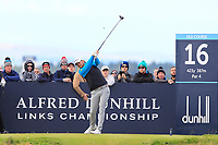 Bernd Wiesberger (AUT) on the 16th tee during Round 3 of the Alfred Dunhill Links Championship 2019 at St. Andrews Golf CLub, Fife, Scotland. 28/09/2019.<br /> Picture Thos Caffrey / Golffile.ie<br /> <br /> All photo usage must carry mandatory copyright credit (© Golffile | Thos Caffrey)