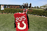 April 11, 2015: Oaklawn Handicap trophy at Oaklawn Park in Hot Springs, AR. Justin Manning/ESW/CSM
