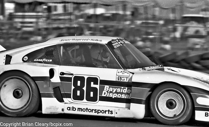 #86 Porsche 935 of Bruce Leven,  Al Holbert, and Hurley Haywood (3rd place) 12 Hours or Sebring, Sebring International Raceway, Sebring, FL, March 19, 1983.  (Photo by Brian Cleary/bcpix.com)