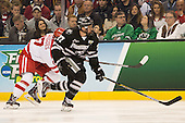 Josh Monk (PC - 27) - The Providence College Friars defeated the Boston University Terriers 4-3 to win the national championship in the Frozen Four final at TD Garden on Saturday, April 11, 2015, in Boston, Massachusetts.