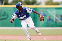 30 july 2010: Felix Brown of Team France fails to catch the ball during Italy 9-2 win over France, in day 6 of the 2010 European Championship Seniors, at TV Cannstatt ballpark, in Stuttgart, Germany.
