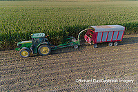 63801-10609 Farmer cutting corn for silage-aerial Marion Co. IL