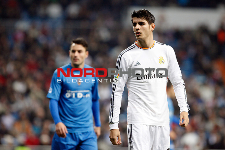 Real Madrid¬¥s Morata during a Copa del Rey soccer match between Real Madrid and Olimpic de Xativa at Santiago Bernabeu Stadium in Madrid. December 18, 2013. Foto © nordphoto / Caro Marin) *** Local Caption ***