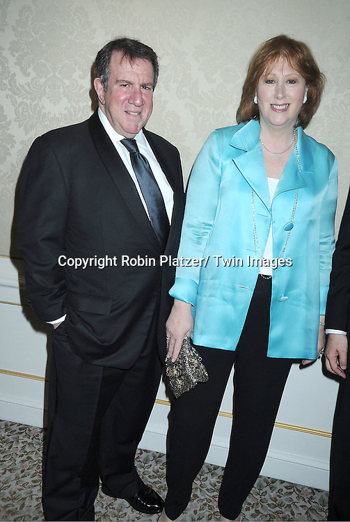 Andrew Tisch and wife Anne Tisch attending The Musuem of The Moving Image Gala honoring Brian Williams of NBC News and Kenneth Lowe of Scripps Networks Interactive at The St Regis Hotel in New York City on June 2, 2011.