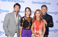 SANTA MONICA, CA - SEPTEMBER 09:  (L-R) Singer-actor David Charvet, actress-dancer Brooke Burke-Charvet, actress Roma Downey and producer Mark Burnett attend Operation Smile's Annual Smile Gala at The Broad Stage on September 9, 2017 in Santa Monica, California.<br /> CAP/ROT<br /> &copy;ROT/Capital Pictures