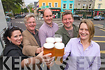 Pictured at the launch of Kenmare Beer on Wednesday Were Rose Curulli, Dick Moxley, Donald Walsh, Kenmare Chamber of Commerce,  Paul Walsh, P.F. McCarthys Bar