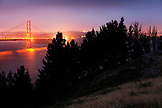 USA, California, San Francisco, USA, California, San Francisco, a night shot of the Golden Gate Bridge taken from the Marin Headlands