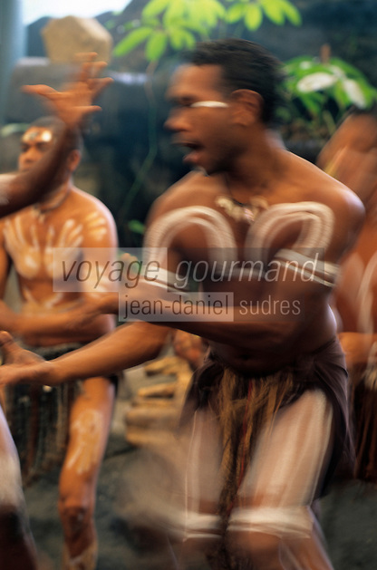 Océanie/Australie/Queensland/Cairns: danseurs aborigènes au centre culturel Tjapukai