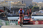 Ian Boswell (USA) Team Katusha Alpecin during Stage 1 of the La Vuelta 2018, an individual time trial of 8km running around Malaga city centre, Spain. 25th August 2018.<br /> Picture: Eoin Clarke | Cyclefile<br /> <br /> <br /> All photos usage must carry mandatory copyright credit (© Cyclefile | Eoin Clarke)