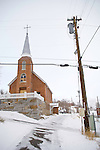 Austin covered with snow..St. Augustines Catholic Church