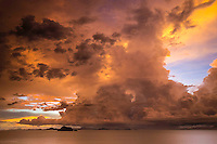 Photographer: Rick Findler<br /> <br /> THAILAND, Ko Yao Yai Island: Storm clouds form during sunset off the coast of Ko Yao Yai.