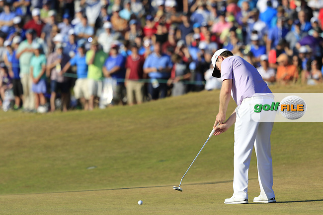 Branden GRACE (RSA) putts on the 17th green during Sunday's Final Round of the 2015 U.S. Open 115th National Championship held at Chambers Bay, Seattle, Washington, USA. 6/22/2015.<br /> Picture: Golffile | Eoin Clarke<br /> <br /> <br /> <br /> <br /> All photo usage must carry mandatory copyright credit (&copy; Golffile | Eoin Clarke)