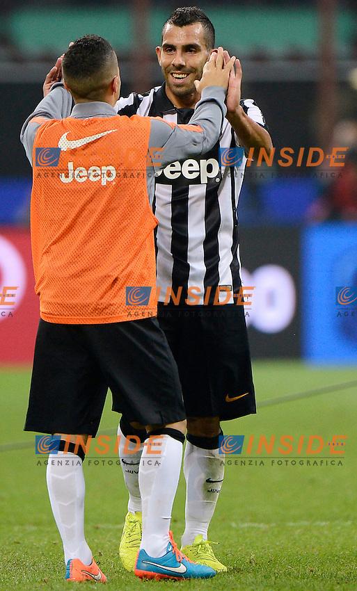 Carlos Tevez, Sebastian Giovinco Juventus<br /> Milano 20-09-2014 Stadio Giuseppe Meazza - Football Calcio Serie A Milan - Juventus. Foto Giuseppe Celeste / Insidefoto