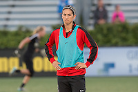 Allston, MA - Saturday Sept. 24, 2016: Abby Erceg prior to a regular season National Women's Soccer League (NWSL) match between the Boston Breakers and the Western New York Flash at Jordan Field.