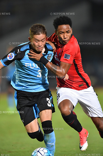 Tatsuki Nara (Frontale),  Rafael da Silva (Reds),<br /> AUGUST 23, 2017 - Football / Soccer :<br /> AFC Champions League Quarter-finals 1st leg match between Kawasaki Frontale 3-1 Urawa Red Diamonds at Todoroki Stadium in Kanagawa, Japan. (Photo by AFLO)