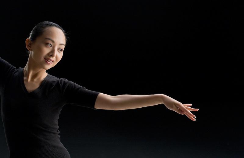 Hearing-impared Chinese dancer Tai Lihua in Beijing.
