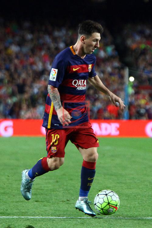 League BBVA 2015/2016. Game: 2.<br /> FC Barcelona vs Malaga CF: 1-0.<br /> Lionel Messi.