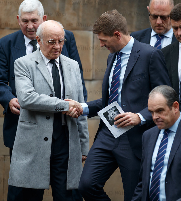 25.09.2018 Funeral service for Fernando Ricksen: Steven Gerrard and Willie Henderson