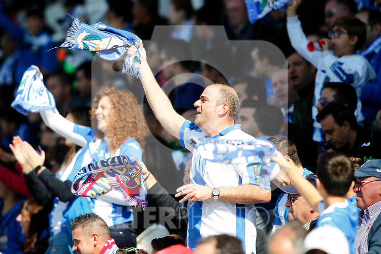 CD Leganes' supporters during La Liga match. October 15,2016. (ALTERPHOTOS/Acero)