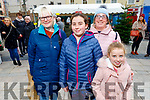 Joan, Faye, Michelle and Jenna Courtney from Tralee enjoying the festive fun at the Snow Day in the square in Tralee on Saturday.