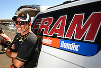 Jul. 17, 2010; Sonoma, CA, USA; NHRA top fuel dragster driver Cory McClenathan during qualifying for the Fram Autolite Nationals at Infineon Raceway. Mandatory Credit: Mark J. Rebilas-