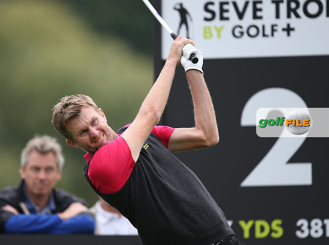 Team GB & Ireland's David Lynn (ENG) struggled to keep pace with the Team Europe pairing of Joost Luiten (NED) and Gregory Bourdy (FRA) during the Fourball Matches on Day One at the Seve Trophy by Golf+ 2013, from Saint-Nom-La-Breteche, Paris, France. Picture:  David Lloyd / www.golffile.ie