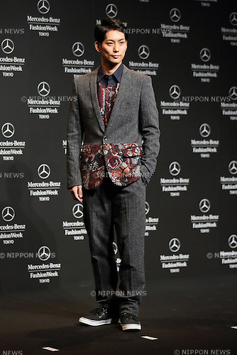 Yuta Hiraoka, Oct 14, 2013 : Yuta Hiraoka wearing Yoshio Kubo attends Mercedes-Benz Fashion Week Tokyo 2014 S/S Openig Ceremony at Shibuya Hikarie Tokyo Japan on 14 Oct 2013