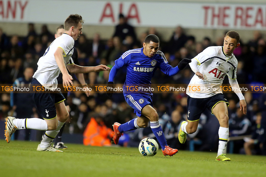 Jay Dasilva of Chelsea bursts through the Tottenham defence - Tottenham Hotspur Youth vs Chelsea Youth - FA Youth Cup Semi-Final 1st Leg Football at White Hart Lane, Tottenham, London - 05/03/15 - MANDATORY CREDIT: Paul Dennis/TGSPHOTO - Self billing applies where appropriate - contact@tgsphoto.co.uk - NO UNPAID USE